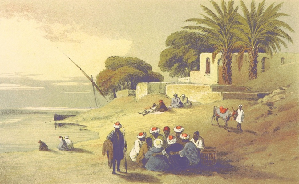 Four Months in a Dahabeeh - Crew at Breakfast on the Bank (1863)