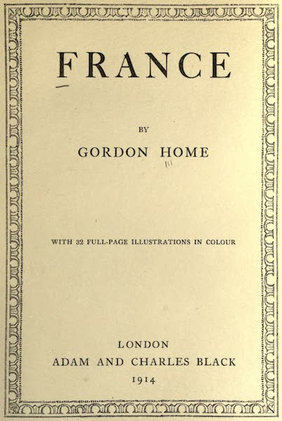 France by Gordon Home - Title Page (1914)