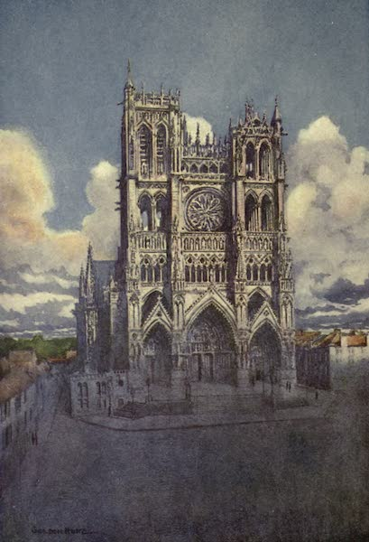 France by Gordon Home - The Western Facade of Amiens Cathedral (1914)