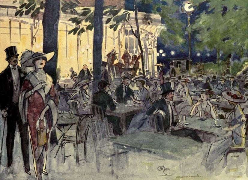 France by Gordon Home - In the Cafe Armenonville in the Bois de Boulogne, Paris (1914)