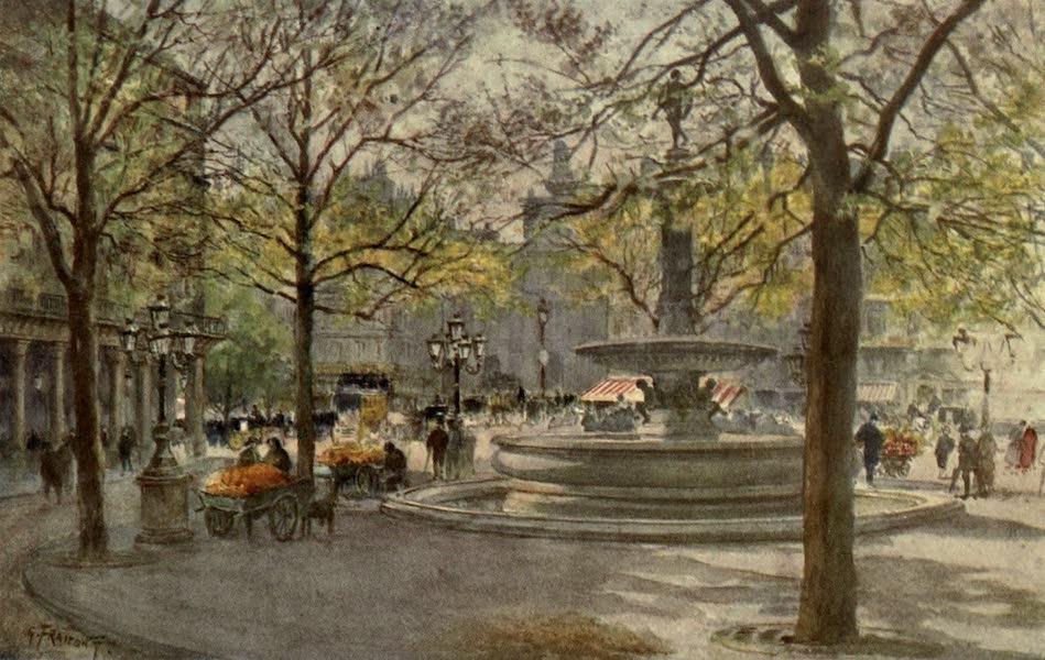 France by Gordon Home - In the Place du Theatre Francais, Paris (1914)