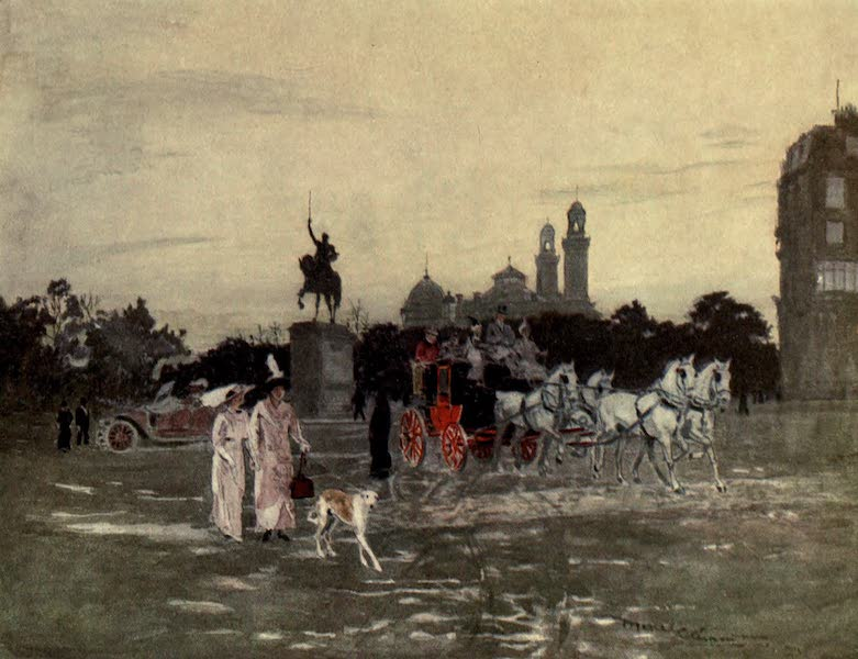France by Gordon Home - Evening in the Place d'Iena, Paris (1914)