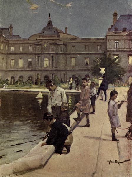 France by Gordon Home - Children of Paris in the Luxembourg Gardens (1914)