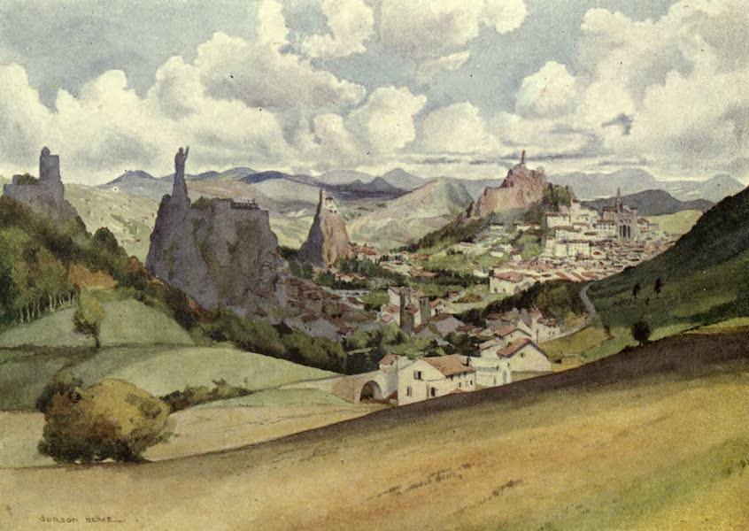 France by Gordon Home - Le Puy-en-Velay in the Auvergne Country (1914)
