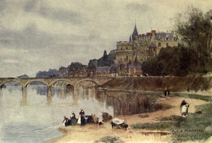 France by Gordon Home - The Chateau of Amboise on the Loire (1914)