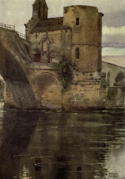 France by Gordon Home - The Chapel on the Bridge of St. Benezet, Avignon (1914)