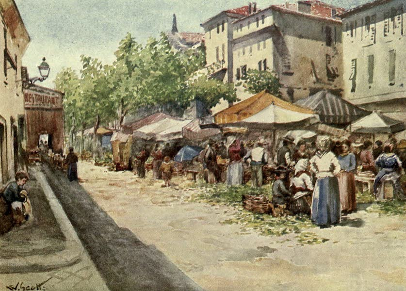 France by Gordon Home - The Vegetable Market, Nice (1914)