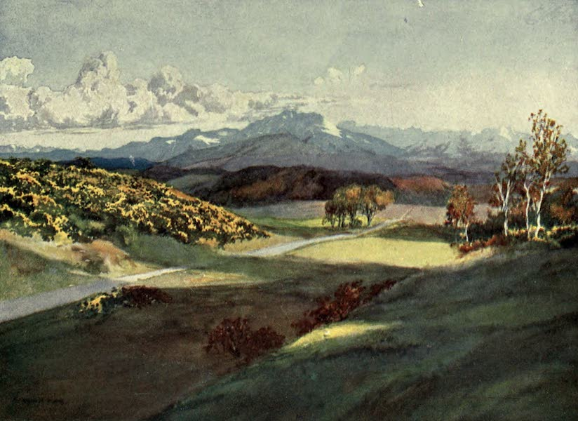 France by Gordon Home - The Pyrenees from near Pamiers (1914)