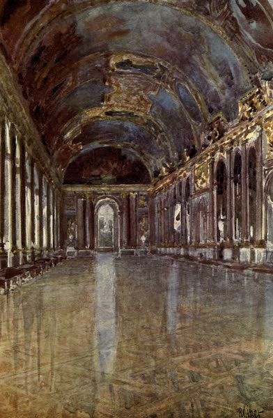 France by Gordon Home - The Galerie des Glaces at Versailles (1914)