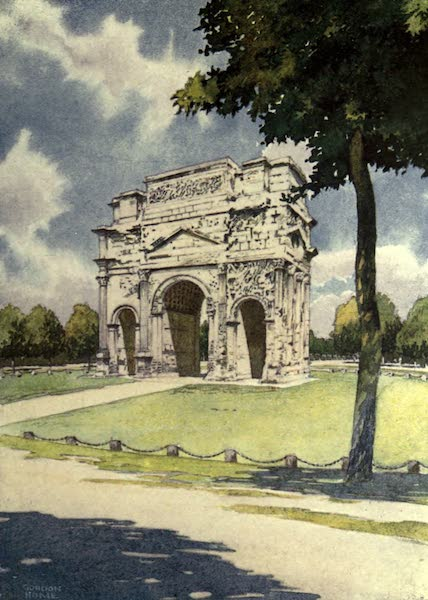France by Gordon Home - The Roman Triumphal Arch at Orange (1914)