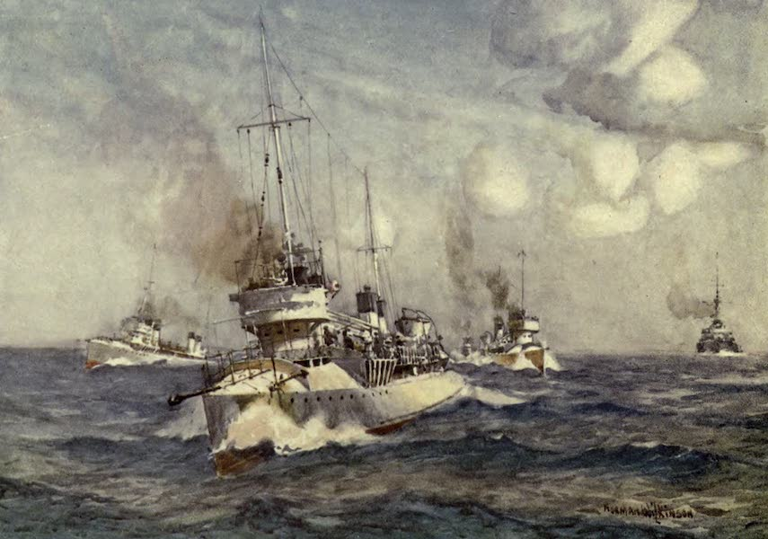 France by Gordon Home - French Destroyers (1914)