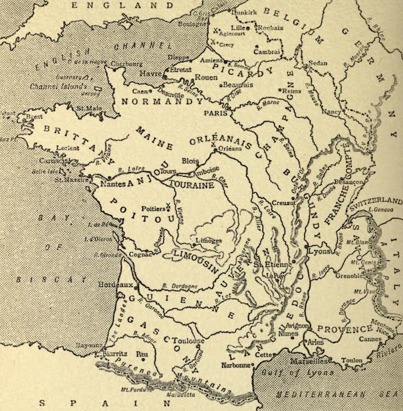 France by Gordon Home - Sketch Map of France (1914)