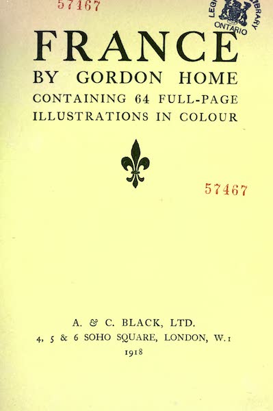 France by Gordon Home - Title Page (1918)