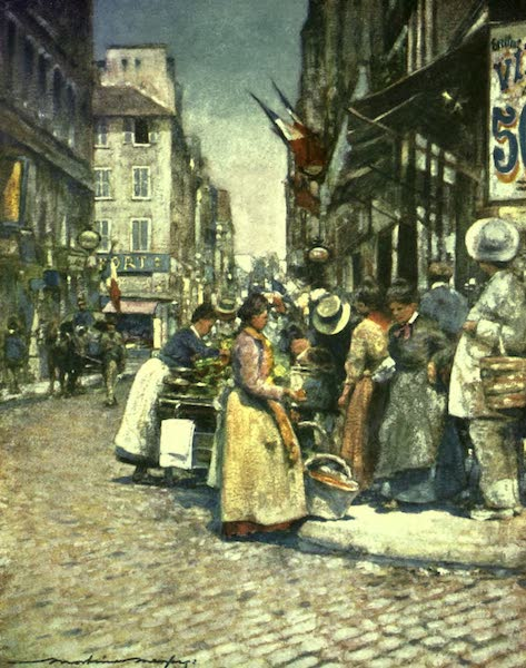 France by Gordon Home - A Corner at the Ruede Seine (1918)