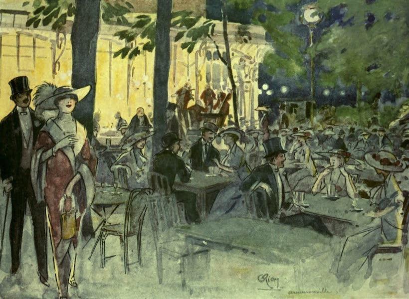 France by Gordon Home - In the Cafe Armenonville, Bois de Boulogne, Paris (1918)