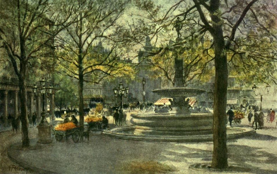 France by Gordon Home - In the Place de Theatre Francais, Paris (1918)