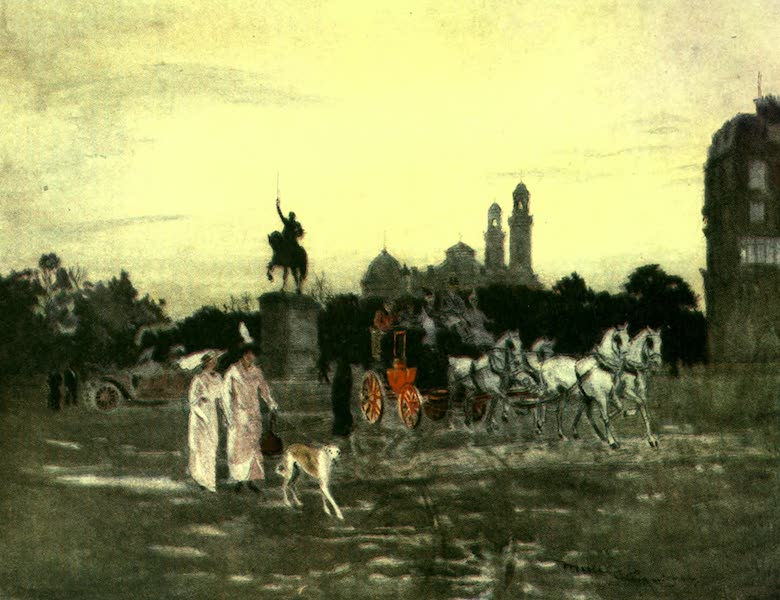 France by Gordon Home - Evening in the Place d'lena, Paris (1918)