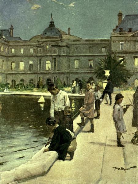 France by Gordon Home - Children of Paris in the Luxemburg Gardens (1918)