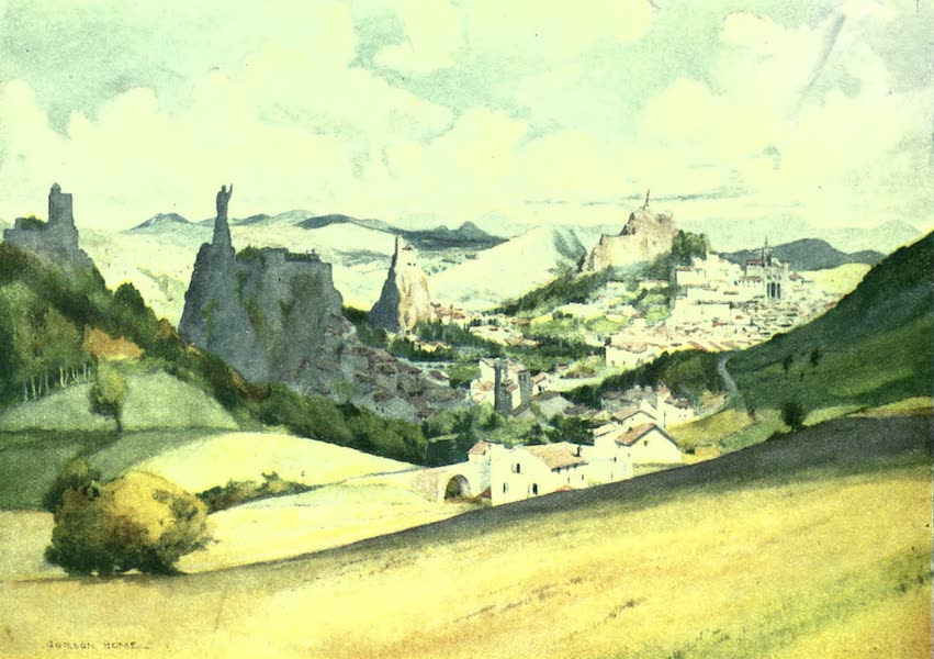 France by Gordon Home - Le Puy-en-Velay in the Auvergne Gauntry (1918)