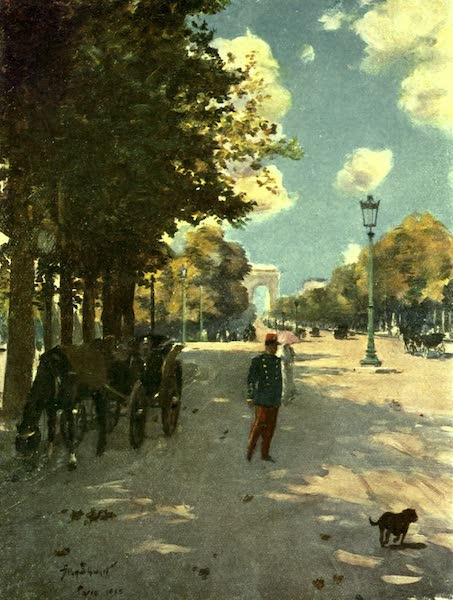France by Gordon Home - Autumn in the Champs Elysees, Paris (1918)