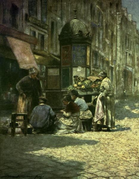 France by Gordon Home - Peeling Potatoes (1918)