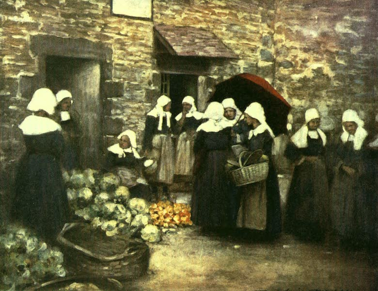 France by Gordon Home - A Vegetable Market in Brittany (1918)