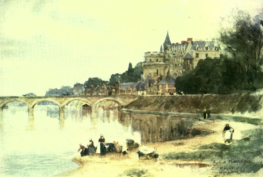 France by Gordon Home - The Chateau of Amboise on the Loire (1918)