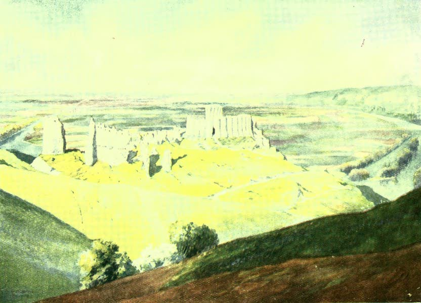 France by Gordon Home - Chateau Gaillard and a loop of the Seine (1918)