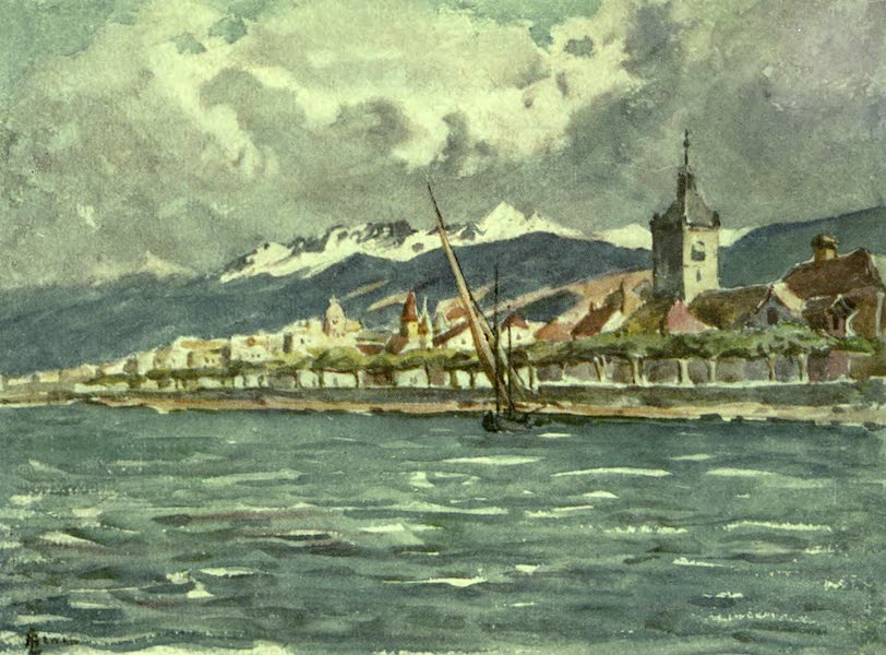 France by Gordon Home - Evian les Bains on Lake Geneva (1918)