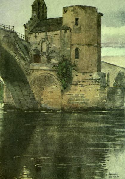 France by Gordon Home - The Chapel on the Bridge of St. Benezet, Avignon (1918)