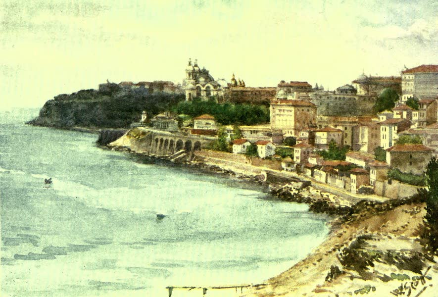France by Gordon Home - Monte Carlo and Monaco from the East (1918)