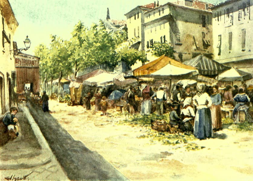 France by Gordon Home - The Vegetable Market, Nice (1918)