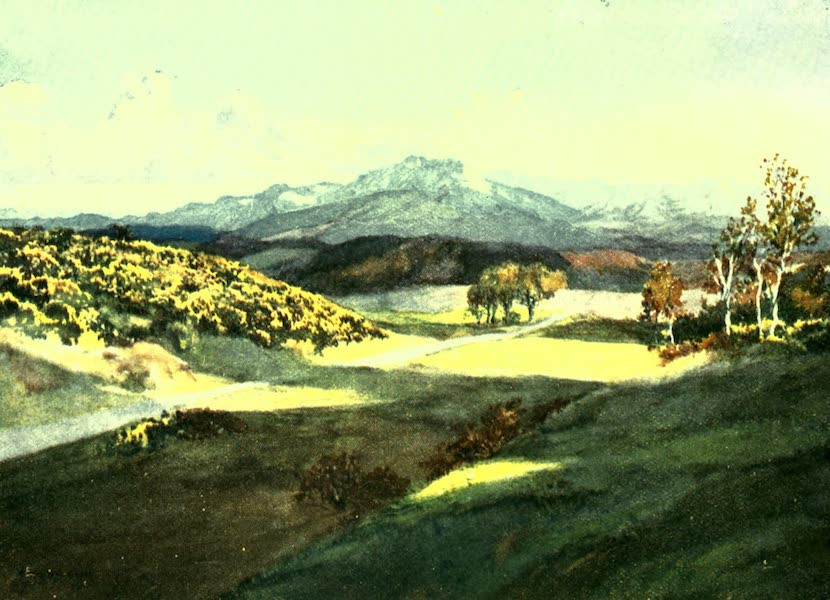 France by Gordon Home - The Pyrenees from near Pamier (1918)