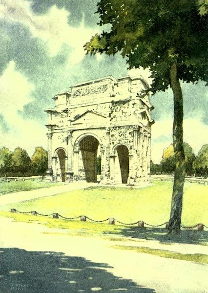 France by Gordon Home - The Roman Triumphal Arch at Orange (1918)