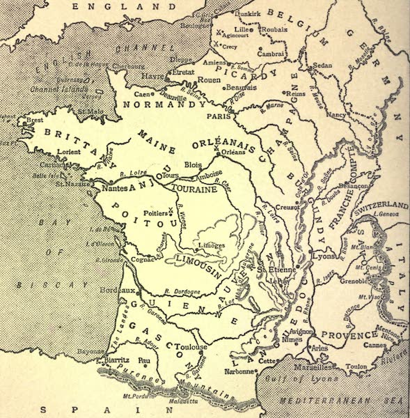 France by Gordon Home - Sketch Map of France (1918)