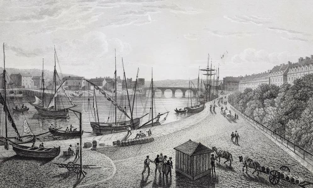French Scenery - Harbour of Dieppe (1822)