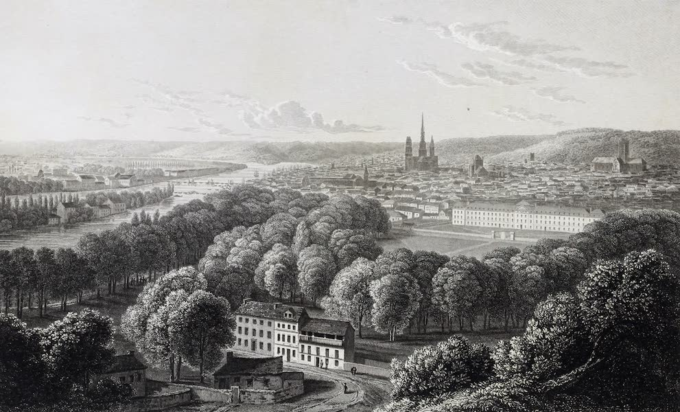 French Scenery - Rouen, from Mont Ste. Catherine (1822)