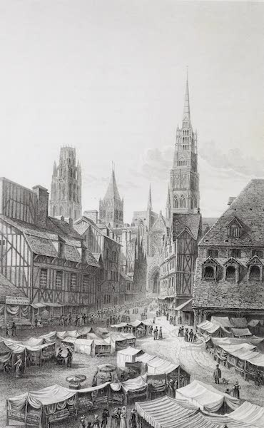 French Scenery - Rouen, from La Haute Vieille Tour (1822)