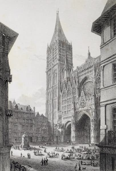 French Scenery - Rouen Cathedral (1822)