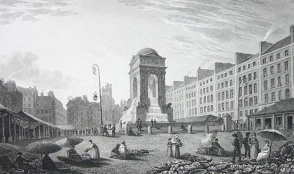 French Scenery - Marché des Innocens (1822)