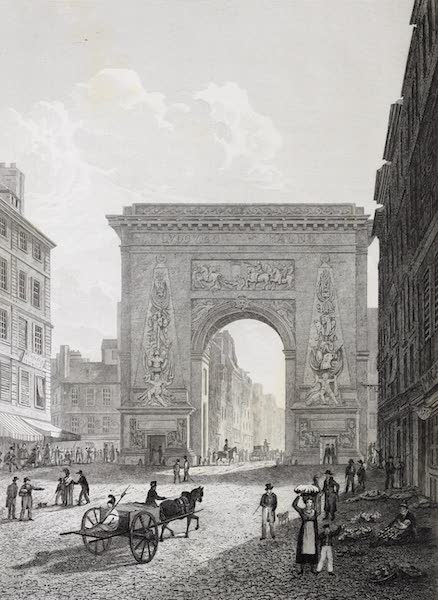 French Scenery - Porte St. Denis (1822)