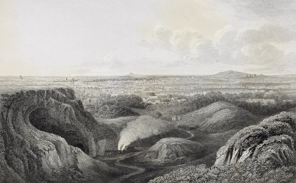 French Scenery - Paris, from the Butte de Chaumont (1822)