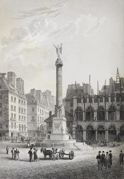 French Scenery - Triumphal Column on the Place du Chatelet (1822)