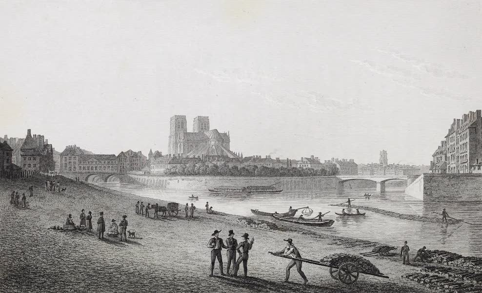 French Scenery - Isle du Palais, and Notre Dame (1822)