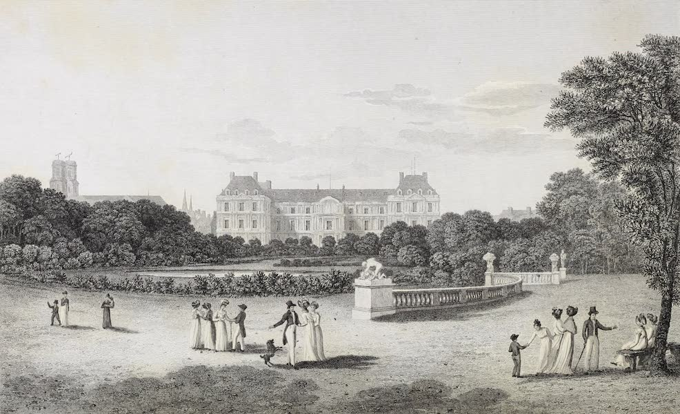 French Scenery - Palace of the Luxembourg (1822)