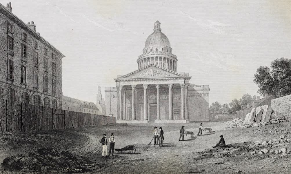 French Scenery - The Pantheon, or New Church of St. Genevieve (1822)