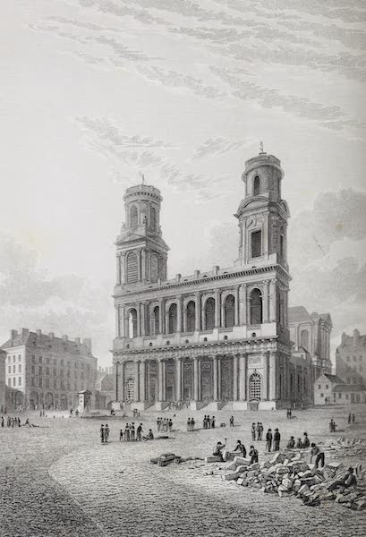 French Scenery - Church of St. Sulpice (1822)