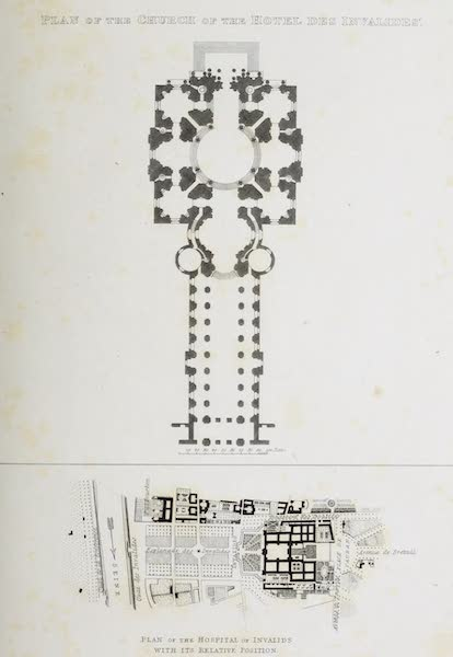 French Scenery - Plan of the Church of the Hotel des Invalides (1822)