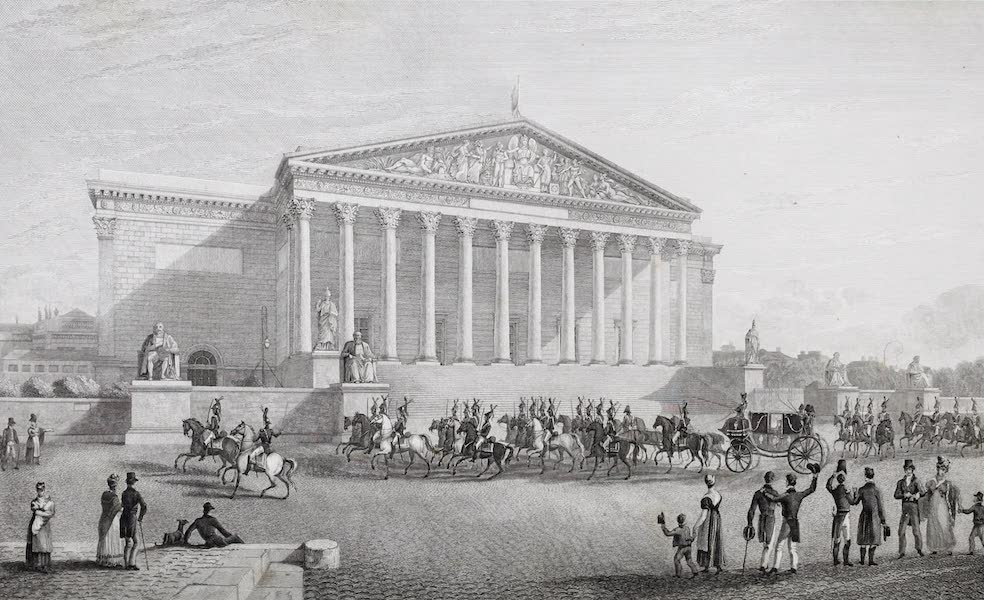French Scenery - Palace of the Chamber of Deputies (1822)