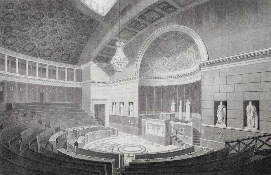 French Scenery - Interior of the Chamber of Deputies (1822)